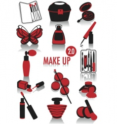 makeup silhouettes vector image vector image