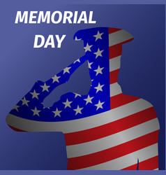 memorial day design with saluting solder vector image