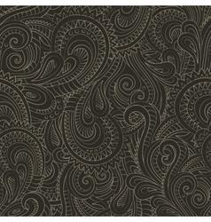 Vintage decorative floral ornamental seamless vector image