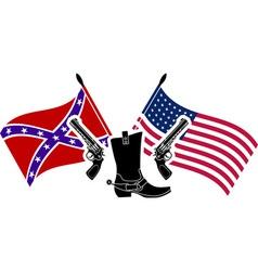 american civil war vector image vector image