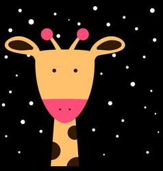 cute fanny giraffe vector image vector image