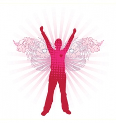 love angel vector image