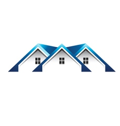 Roof houses logo vector image