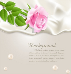 silk and rose background vector image