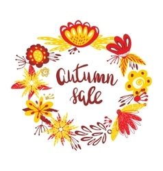 Autumn Sale The trend calligraphy text in wreath vector image