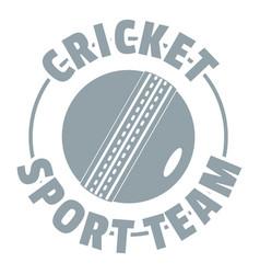 cricket sport logo simple gray style vector image
