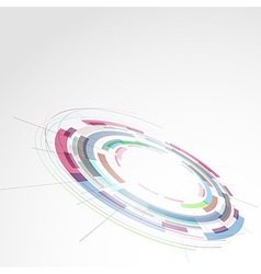 Modern ring round technology bright element vector image