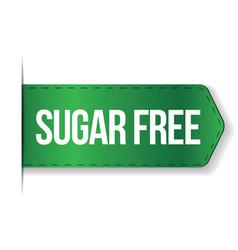 Sugar Free sign ribbon vector image