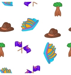 Australia tourism pattern cartoon style vector image vector image
