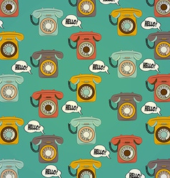 background with retro phone vector image