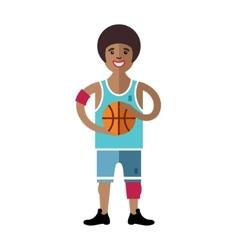 Basketball Flat style colorful Cartoon vector image