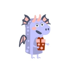Dragon With Party Attributes Girly Stylized Funky vector image