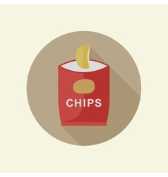 Potato chips icon vector image