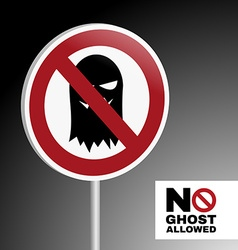 Sign no ghost allowed vector