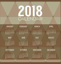 2018 classic modern pattern printable calendar vector image
