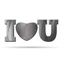 Abbreviation - i love you vector