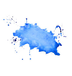 abstract blue watercolor splatter texture vector image