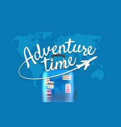 Adventure time world map with the logo vector