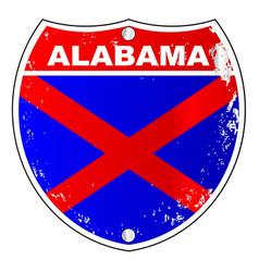 alabama interstate sign vector image