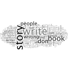 Autobiography how to write publish your life story vector