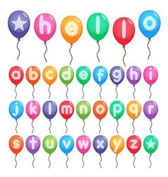 Balloon alphabet letters vector
