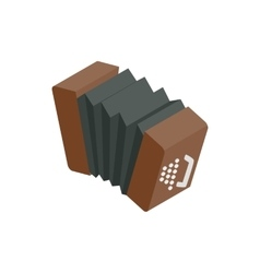 Bandoneon accordion icon isometric 3d style vector