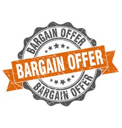 Bargain offer stamp sign seal vector