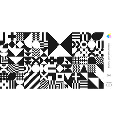 Bauhaus and swiss pattern background abstract vector