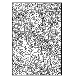 Black and white background for coloring book vector image