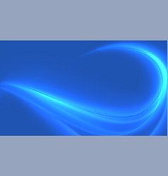 blue shiny wave swirl background attractive design vector image