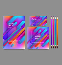 business templates for multipurpose presentation vector image
