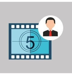 businessman movie countdown numbers icons vector image