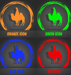 Camel icon Fashionable modern style In the orange vector image