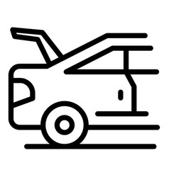 Car with open boot icon outline style vector