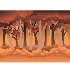 Cartoon Autumn Forest vector image vector image