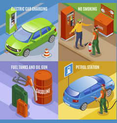 charging cars design concept vector image