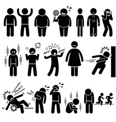 Children health physical and mental problem vector