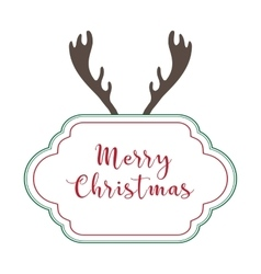 Christmas background retro style vector