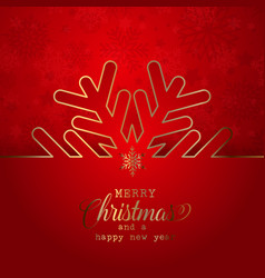 christmas background with snowflake design vector image