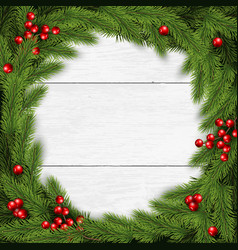 Christmas wreath on white vector