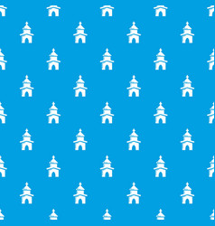 church pattern seamless blue vector image