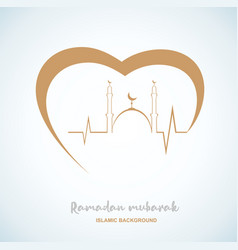 Creative eid mubarak text design vector