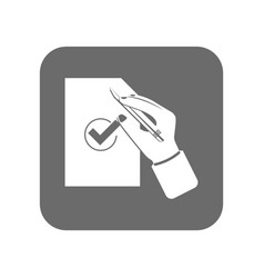 Customer service icon with approved sign vector