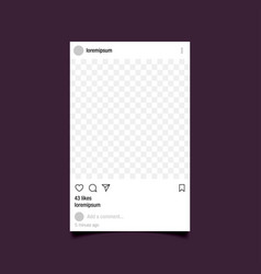 Cutout frame for photo social network post vector