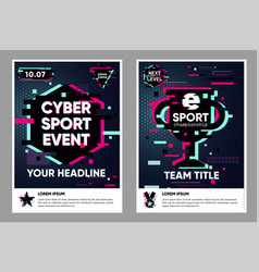 cyber sport poster electronic games backgrounds vector image