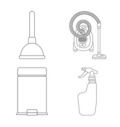 design of cleaning and service logo set of vector image