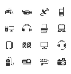 Devices icon set vector