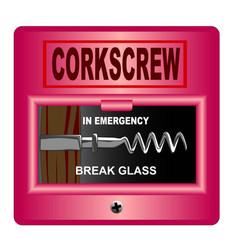 emergency corkscrew vector image