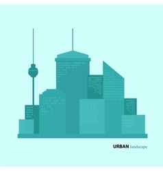 Flat design urban landscape color vector image