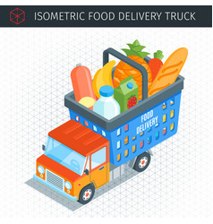 Food delivery truck vector